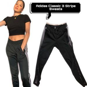 ADIDAS Classic 3 stripe sweatpants